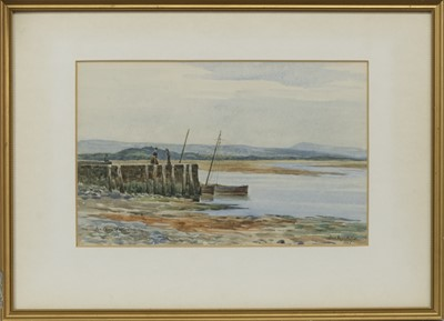 Lot 66 - LOW TIDES, A PAIR OF WATERCOLOURS BY DUNCAN MACKELLAR