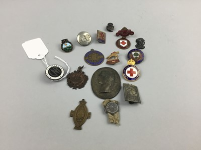 Lot 74 - A LOT OF ENAMEL AND OTHER BADGES