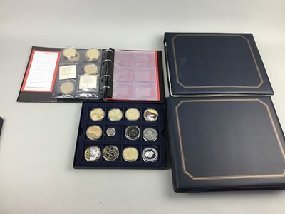 Lot 75 - A TWO ALBUMS OF FIRST DAY COVERS AND COINS
