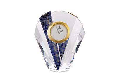Lot 1095 - A SWAROVSKI CURACO TABLE CLOCK
