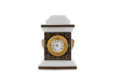 Lot 1094 - A ROSENTHAL VERSACE ARCADIA CHIMNEY CLOCK