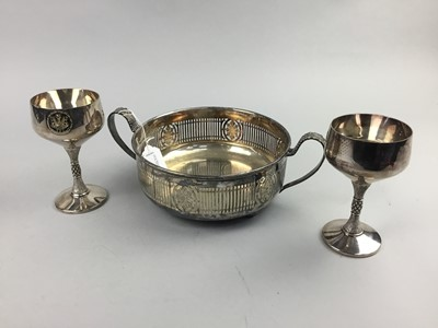 Lot 69 - A LOT OF SILVER PLATED WARE