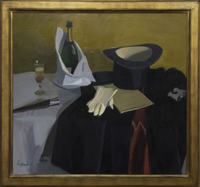 Lot 2012 - A NIGHT AT THE OPERA, AN OIL BY ALEXANDER GOUDIE