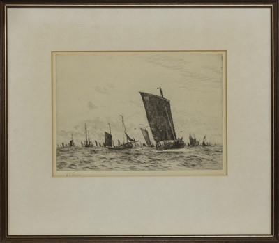 Lot 93 - AT SAIL, AN ETCHING BY WILLIAM WYLLIE