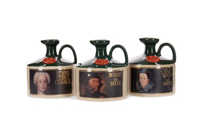 Lot 13 - GLENFIDDICH ROBERT THE BRUCE, MARY QUEEN OF SCOTS AND CHARLES EDWARD STUART CROCKS