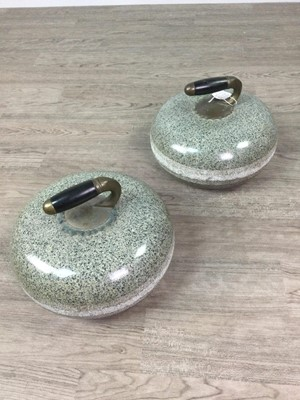 Lot 1724 - A PAIR OF EARLY 20TH CENTURY CURLING STONES