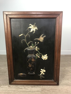Lot 632 - AN EARLY 20TH CENTURY CHINESE WALL PANEL