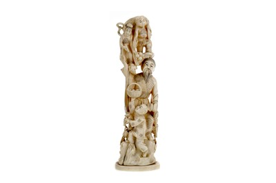Lot 628 - A JAPANESE IVORY CARVING