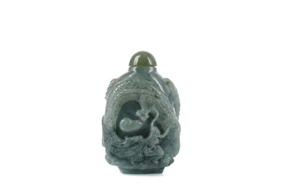 Lot 615 - A CHINESE JADE SNUFF BOTTLE