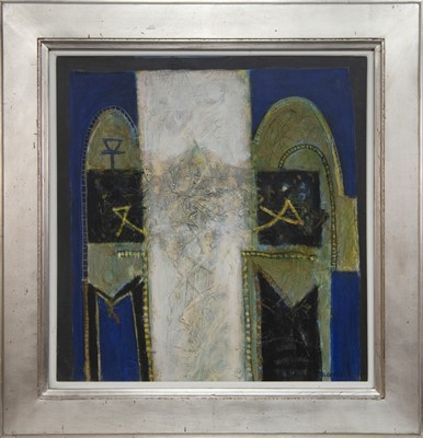 Lot 603 - EGYPTIAN DOORS, A MIXED MEDIA BY CHARLES MACQUEEN