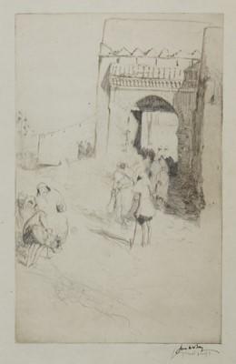 Lot 101 - ROAD-MENDERS, TETUAN, AN ETCHING BY JAMES MCBEY