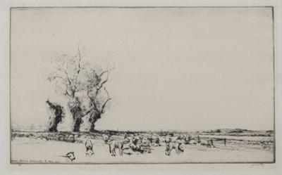 Lot 78 - EBBSFLEET, SANDWICH, AN ETCHING BY JAMES MCBEY