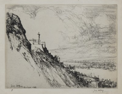 Lot 103 - THE CRUCIFIX, BOULOGNE, AN ETCHING BY JAMES MCBEY