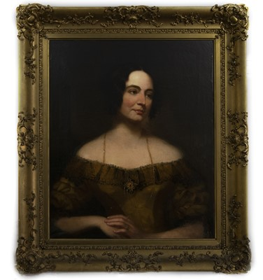 Lot 88 - AN OIL PORTRAIT OF A LADY, POSSIBLY MRS WILLIAM TINDAL
