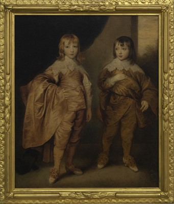 Lot 99 - TWO YOUNG MASTERS, A WATERCOLOUR BY A FOLLOWER OF ANTONY VAN DYKE