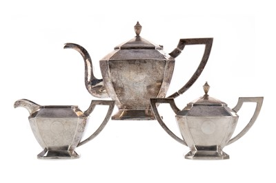 Lot 607 - A CHINESE SILVER TEA SERVICE