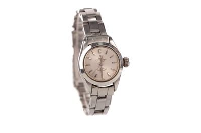 Lot 735 - A LADY'S TUDOR OYSTER PRINCESS STAINLESS STEEL AUTOMATIC WRIST WATCH