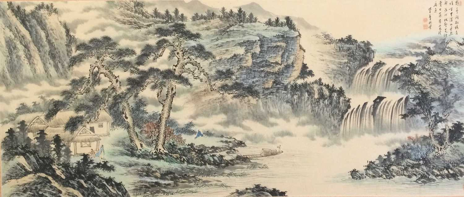 Lot 603 - A LARGE CHINESE PAINTING