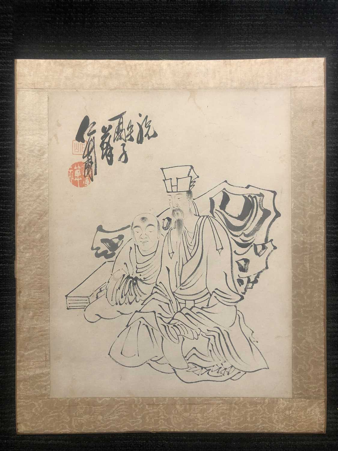 Lot 675 - A GROUP OF TWO CHINESE INK DRAWINGS AFTER SU RENSHAN