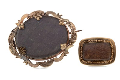 Lot 331 - TWO VICTORIAN MOURNING BROOCHES