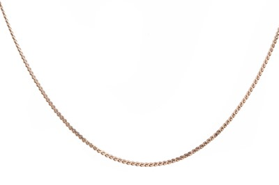 Lot 368 - A GOLD CHAIN