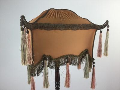 Lot 1612 - A CHINESE HARDWOOD STANDARD LAMP