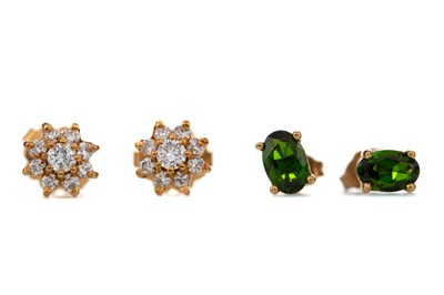Lot 408 - TWO PAIRS OF EARRINGS