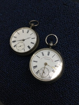 Lot 20A - TWO SILVER CASED POCKET WATCHES