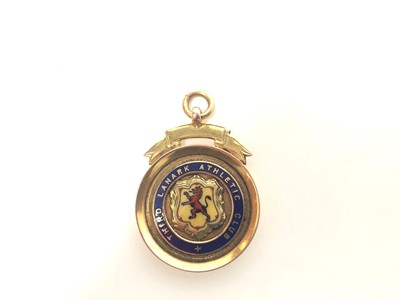 Lot 1727 - ROB LAMBIE OF THIRD LANARK - HIS SCOTTISH FOOTBALL LEAGUE 2ND DIVISION GOLD MEDAL 1934/5 MEDAL