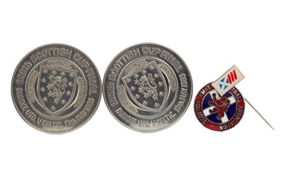 Lot 1728 - TWO 100TH SCOTTISH CUP FINAL COMMEMORATIVE TOKENS