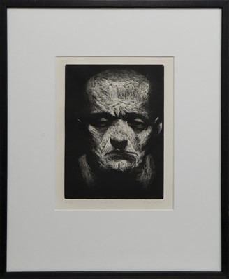 Lot 645 - UNTITLED MAN, AN ETCHING BY KEN CURRIE