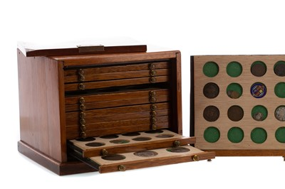 Lot 29 - A CHEST OF COINS