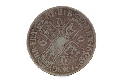 Lot 31 - A CHARLES II (1660 - 1685) SILVER CROWN