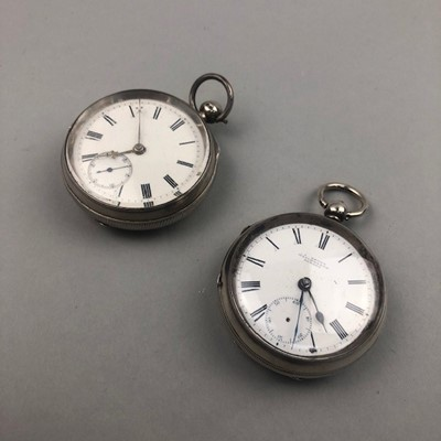 Lot 4 - A LOT OF TWO SILVER POCKET WATCHES