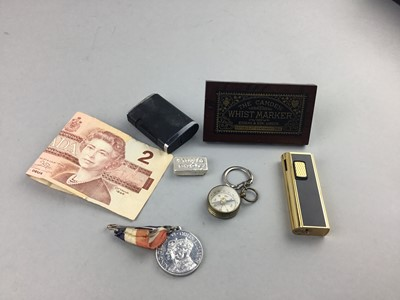 Lot 6 - A LOT OF LIGHTERS, MEDALS, SBUFF BOX AND OTHER OBJECTS