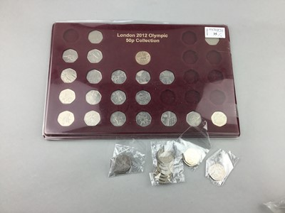 Lot 35 - A LONDON 2012 OLYMPIC 50p COLLECTION