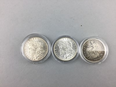 Lot 46 - A LOT OF THREE US $1 COINS