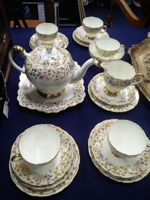 Lot 54 - A FOLEY TEA SERVICE