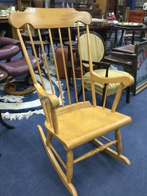 Lot 60 - A ROCKING CHAIR