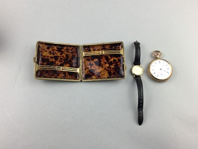 Lot 64 - AN EARLY 20TH CENTURY GOLDPLATED POCKET WATCH AND OTHER WATCHES