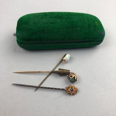Lot 70 - A LOT OF THREE VICTORIAN AND LATER STICK PINS