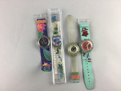Lot 76 - A SWATCH WRIST WATCH AND OTHER WATCHES