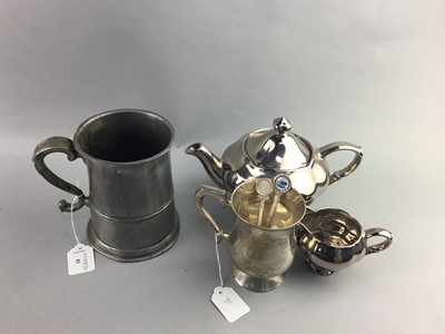 Lot 81 - A SILVER PLATED PART TEA SERVICE AND OTHER PLATED WARE