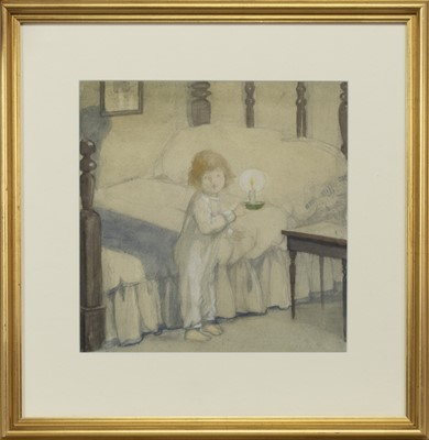 Lot 84 - BY CANDLELIGHT, A WATERCOLOUR BY JESSIE ISABEL GARROW