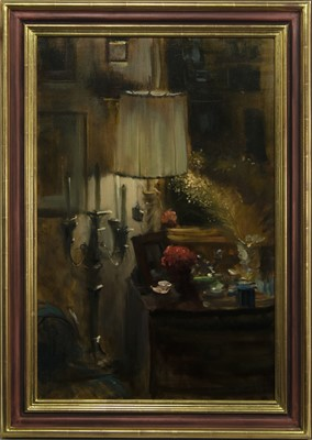 Lot 519 - NO. 1 JEANNE'S DRESSING TABLE IV, AN OIL BY GEORGE J D BRUCE