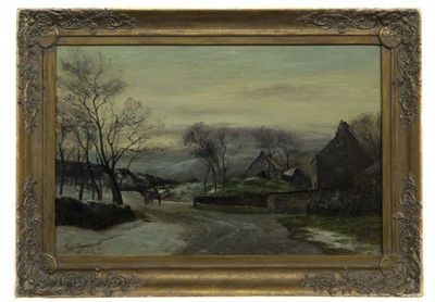 Lot 125 - COUNTRY ROAD AND COTTAGE, AN OIL BY SAM BOUGH