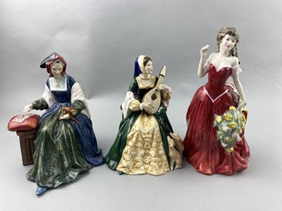 Lot 91 - A ROYAL DOULTON FIGURE OF 'AT EASE' AND SIX OTHERS