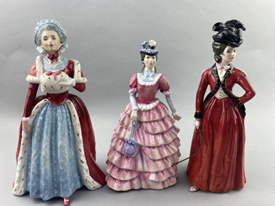 Lot 93 - A ROYAL DOULTON FIGURE OF 'COUNTESS SPENCER' AND FIVE OTHERS