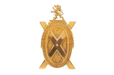 Lot 1312 - NINE CARAT GOLD SCOTTISH FURNITURE & ALLIED TRADERS PROVIDENT ASSOCIATION PRESIDENT MEDAL