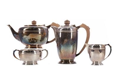 Lot 403 - A GEORGE VI SILVER FOUR PIECE TEA SERVICE